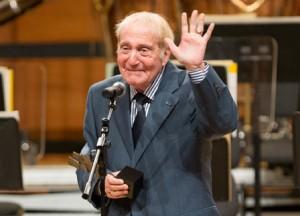 Aldo Ciccolini at the Award Ceremony in Milan Photo: Nora Roitberg