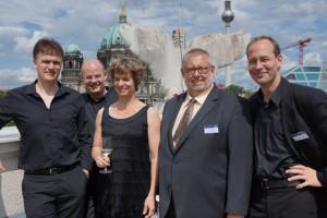 Mandelring Quartet and ICMA Jury President Remy Franck Photo: Martin Hoffmeister
