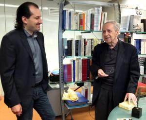 Melodiya's CEO Andrei Krichevsky presented the trophy to Pierre Boulez