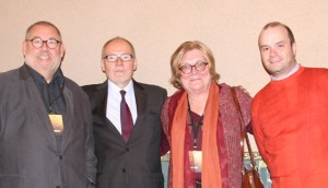 Four Jury members of the International Classical Music Awards in Budapest (from the left): President Remy Franck, Aarno Cronvall, Bernadette Beyne, Vice-President Pierre-Jean Tribot Photo: ICMA