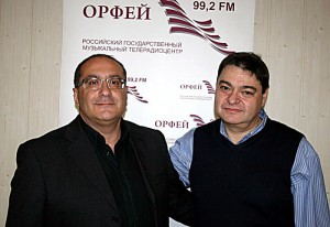 Epifanio Comis and ICMA Jury Member Roman Berchenko (Radio Oprheus, Moscow)