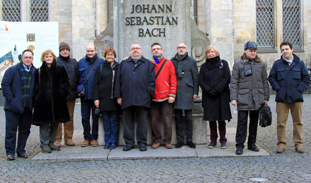 ICMA group photo with Bach