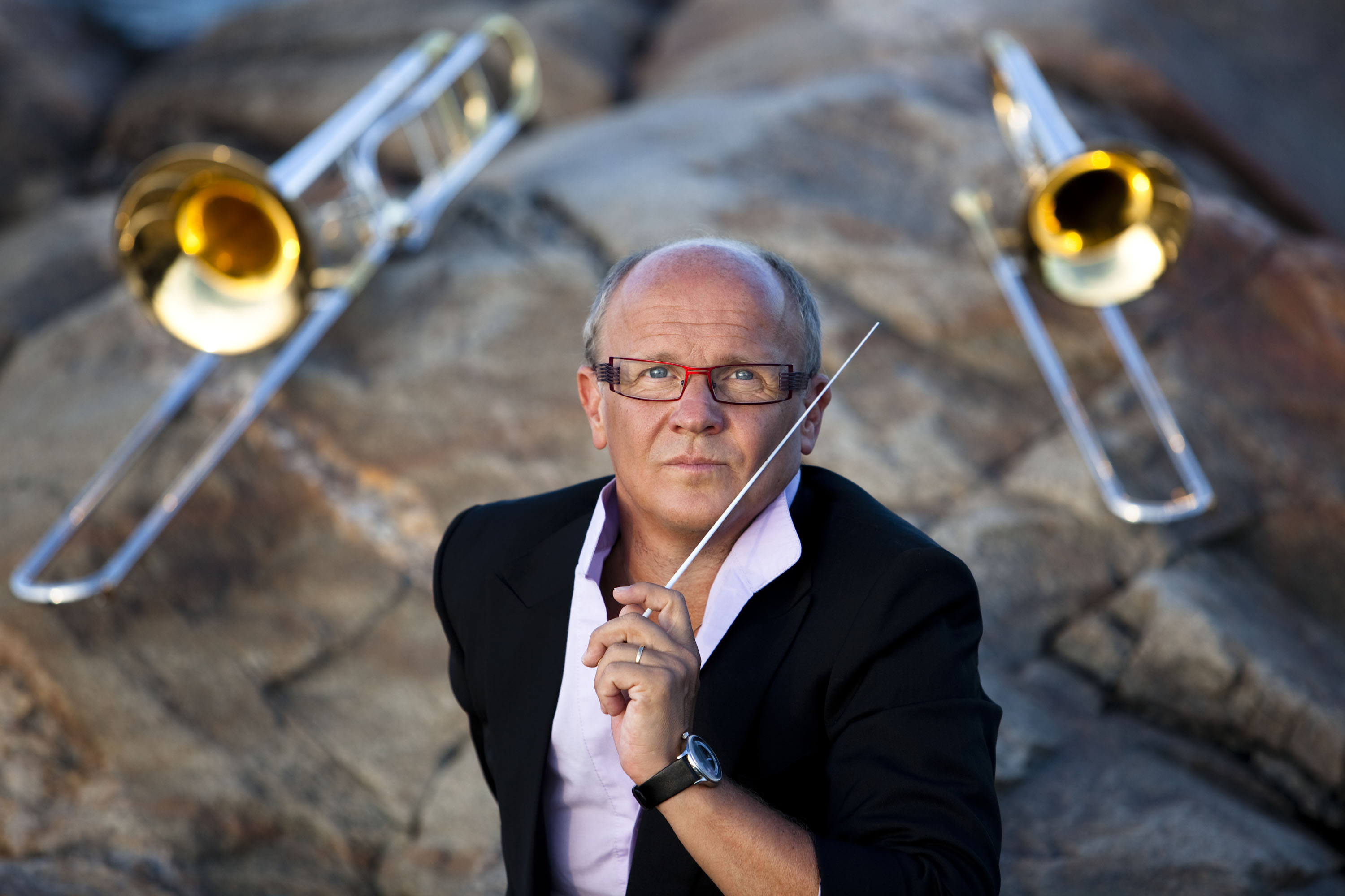 Christian Lindberg, trombone player, composer, and conductor