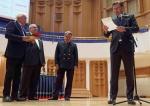 Lifetime Achievement Award -Dmitrij Kitajenko honored by Mirko Boch & Miljenko Sajfar, Zagreb Philharmonic - Photo Aydin Ramazanoglu.jpg