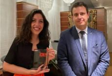 Beatrice Rana receives her award in Milan